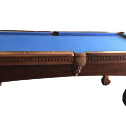 New Pool Table, Honey Finish – Includes Installation and Accessories